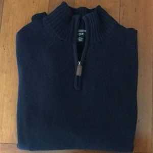 J Crew wool quarter zip